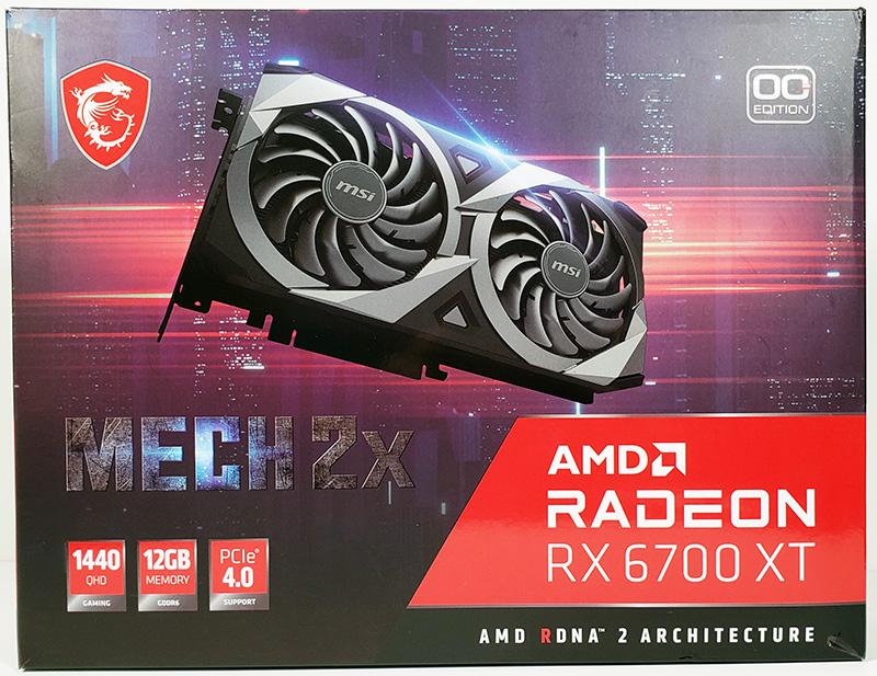 MSI Radeon RX 6700 XT MECH 2X 12G OC Retail Box Front