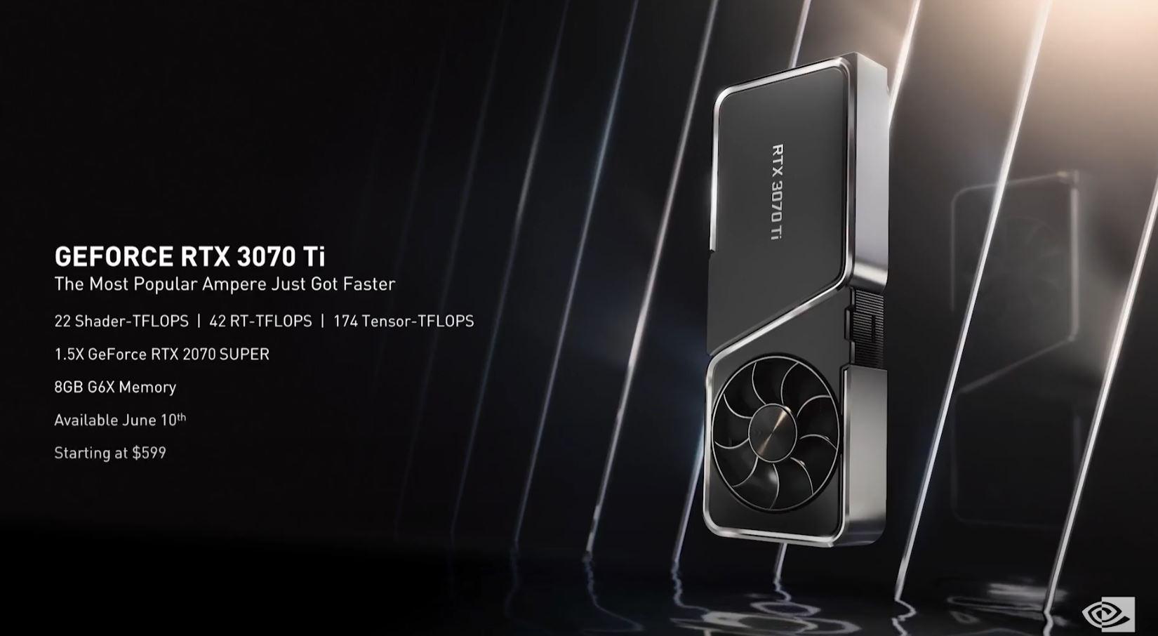 NVIDIA Computex 2021 NVIDIA GeForce 3070 Ti Specs