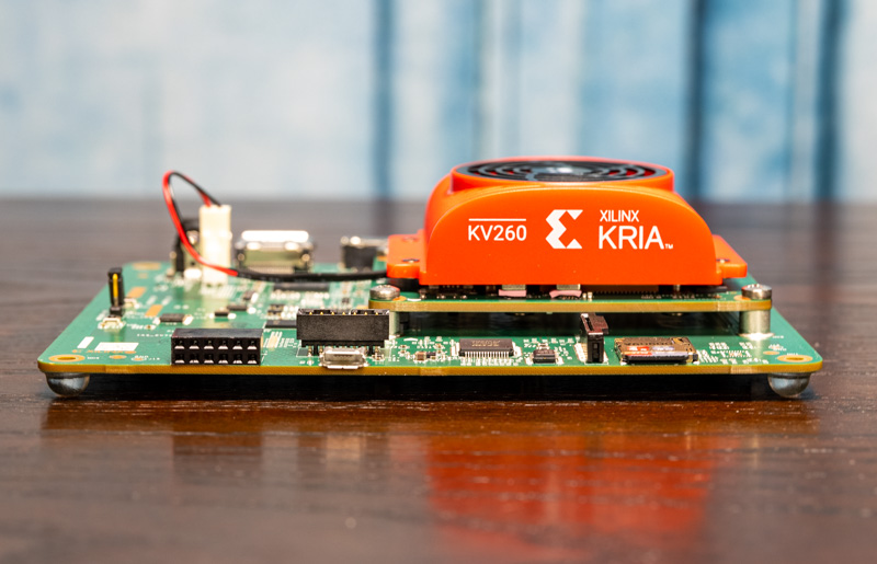 Xilinx Kria KV 260 Vision AI Starter Kit MicroSD And Console Side