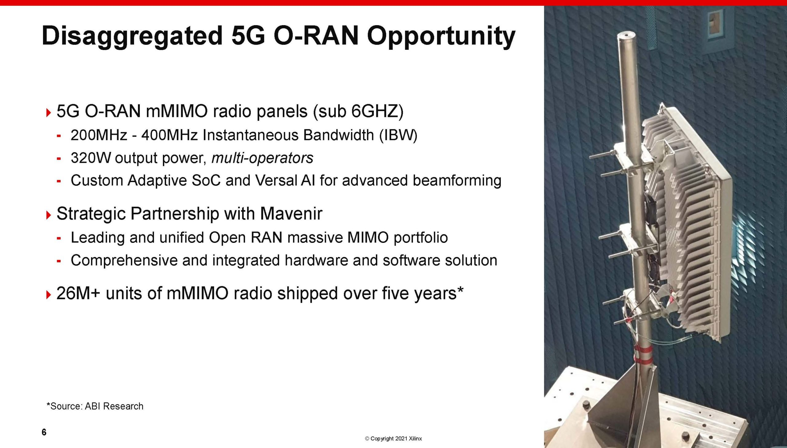 Xilinx Victor Peng 1H2021 5G ORAN Opportunity