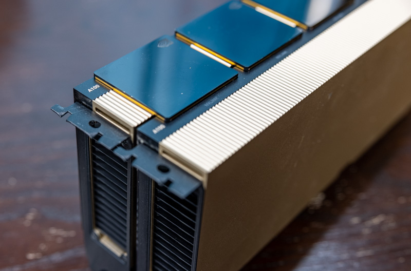 2x NVIDIA A100 PCIe With NVLink Bridges Installed