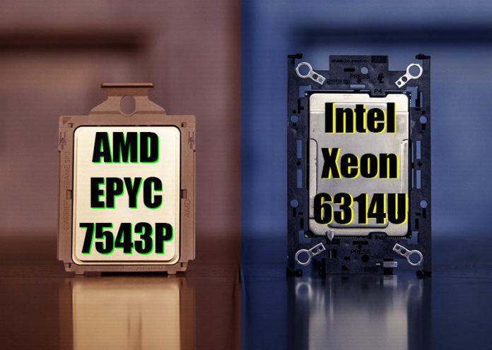 AMD EPYC 7543P V Intel Xeon 6314U Cover Web