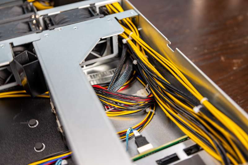 ASRock Rack 2U4G ROME 2T Cables Through Chassis
