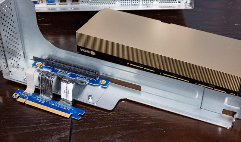 ASRock Rack 2U4G ROME 2T Rear GPU Riser