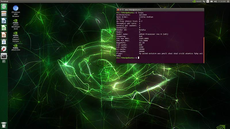 Advantech MIC 730AI NVIDIA Jetson Lscpu Desktop 800
