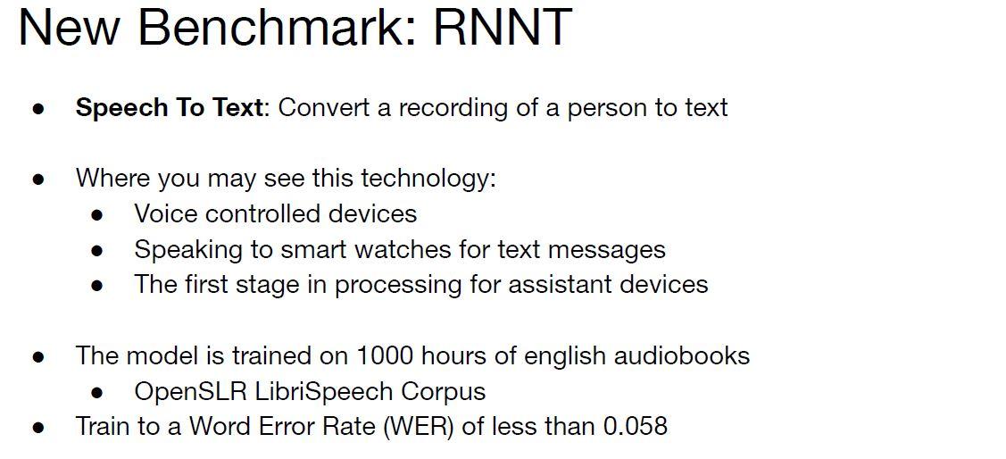 MLPerf Training V1.0 New Benchmark RRNT