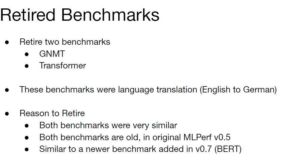 MLPerf Training V1.0 Retired Benchmarks