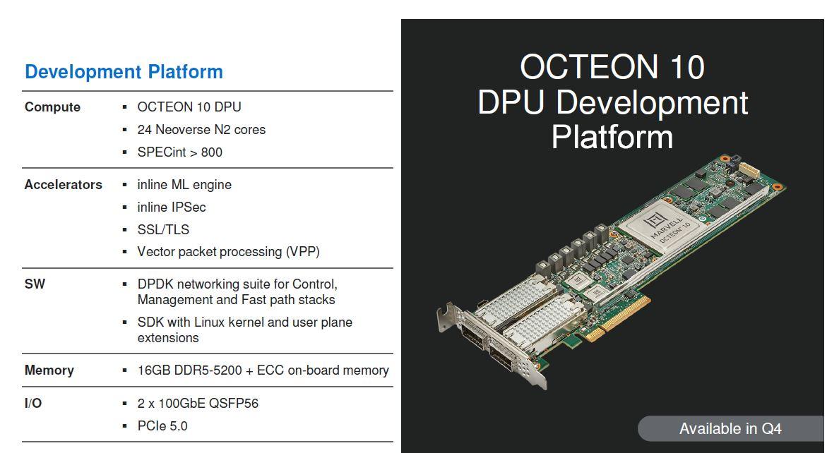 Marvell Octeon 10 DPU Development Platform