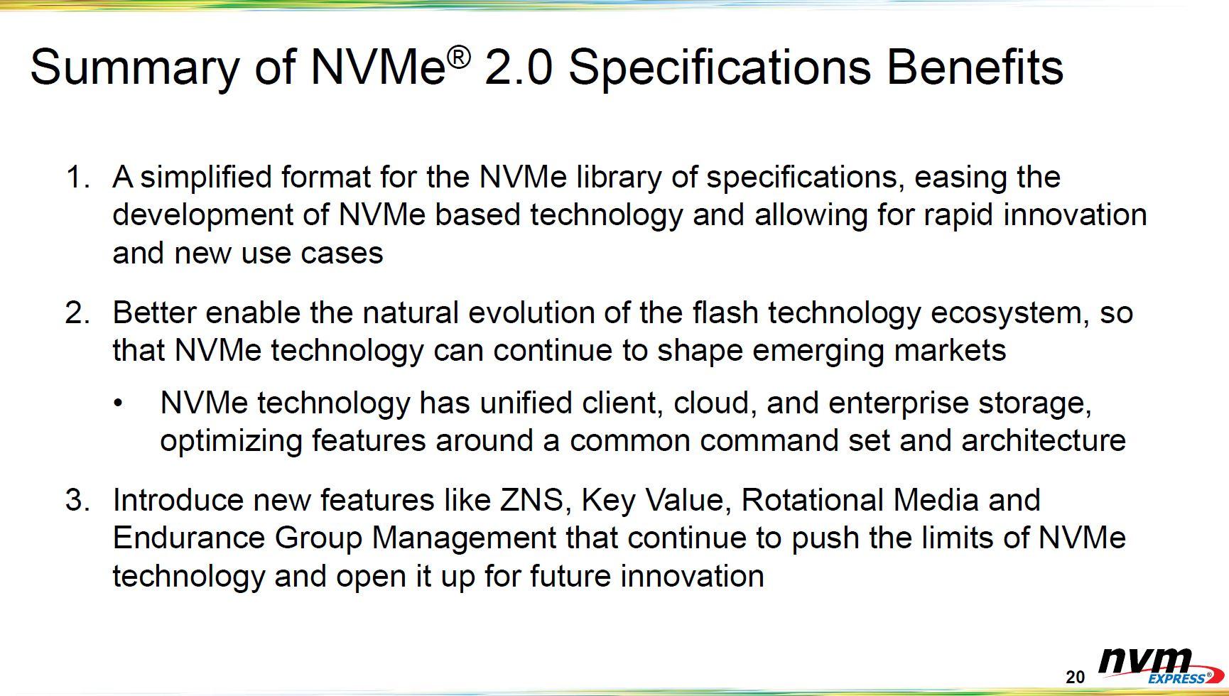 NVMe 2.0 Spec Summary