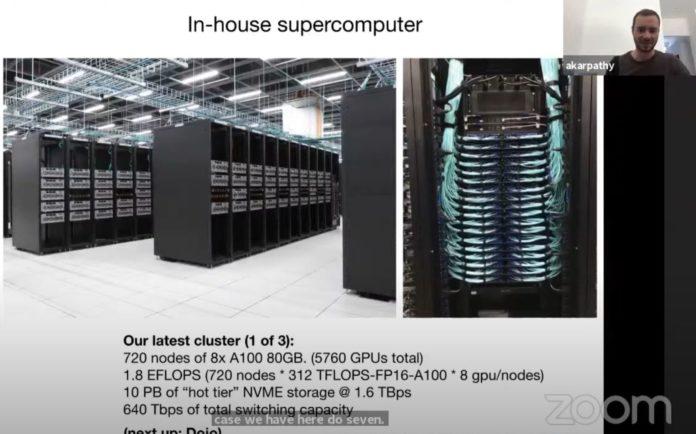 Tesla Supermicro NVIDIA A100 Cluster June 2021