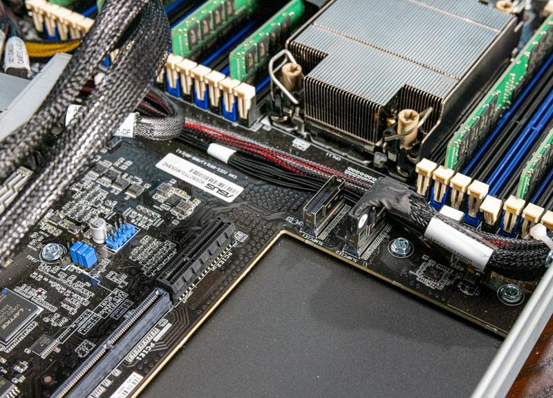 ASUS RS700 E10 RS12U Motherboard Connectors Behind CPU
