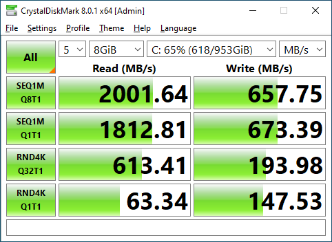 Inland Professional 1TB CrystalDiskMark 8GB