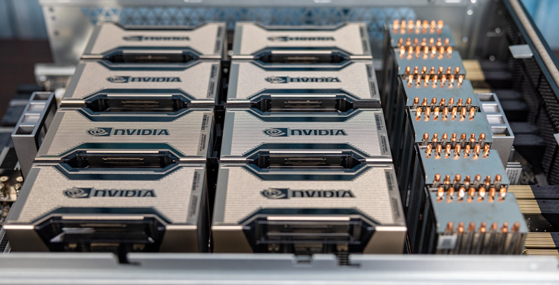 Inspur NF5488A5 NVIDIA HGX A100 8 GPU Assembly 8x A100 And NVSwitch Heatsinks Side 1