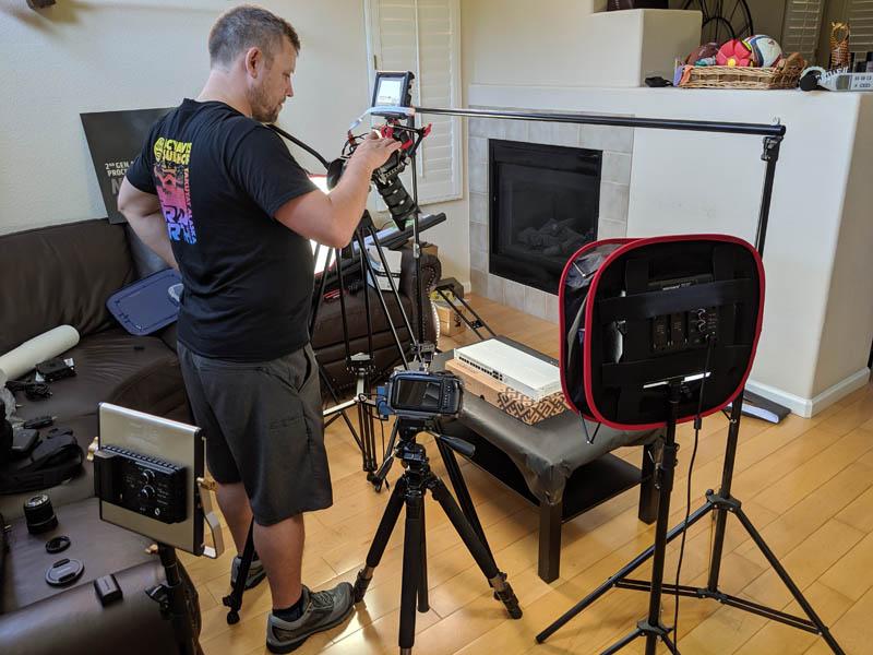 Joe Filming B Roll In The First LRS Use