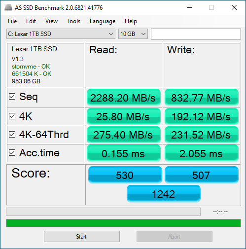 Lexar NM620 1TB ASSSD 10GB