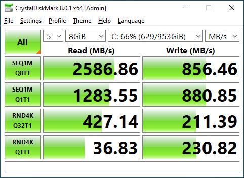 Lexar NM620 1TB CrystalDiskMark 8GB