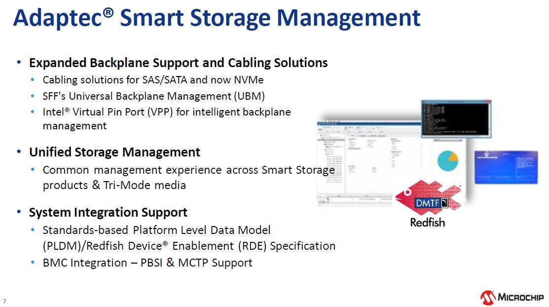 Microchip NVMe And 24G SAS Tri Mode RAID And HBA Management