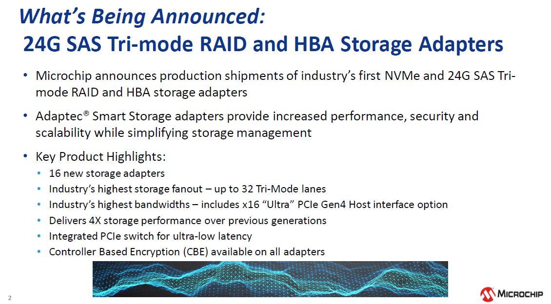 Microchip NVMe And 24G SAS Tri Mode RAID And HBA Storage Adapter Announcement Summary