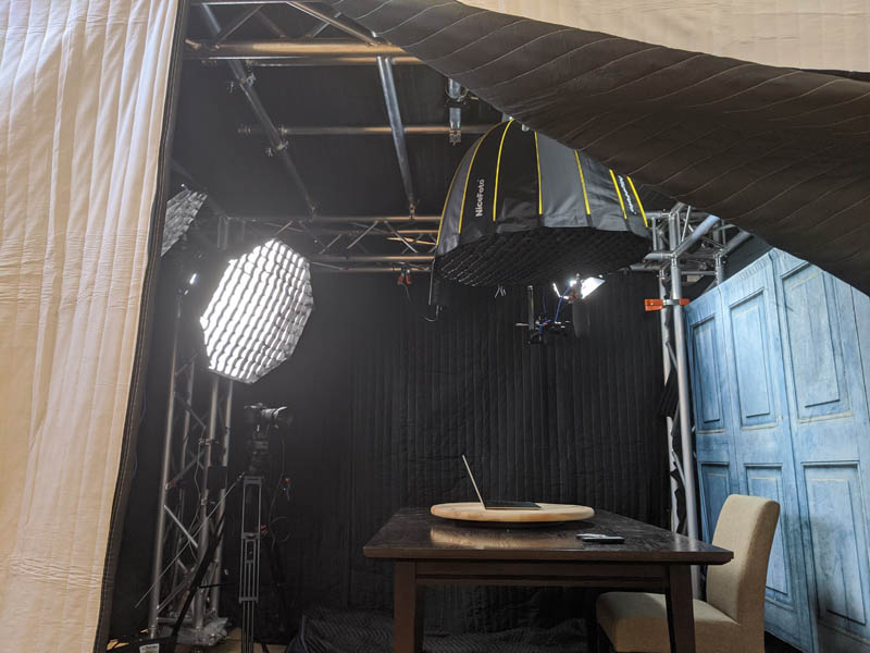 STH Blue Door Studio With The Bad Idea Parabolic Overhead