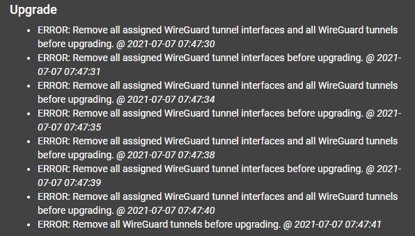PfSense 2.5 To 2.5.2 Upgrade Wireguard Error