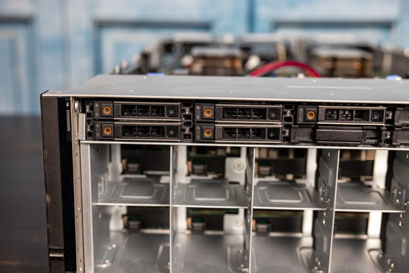 Dell EMC PowerEdge XE8545 Front No Fans NVMe Storage