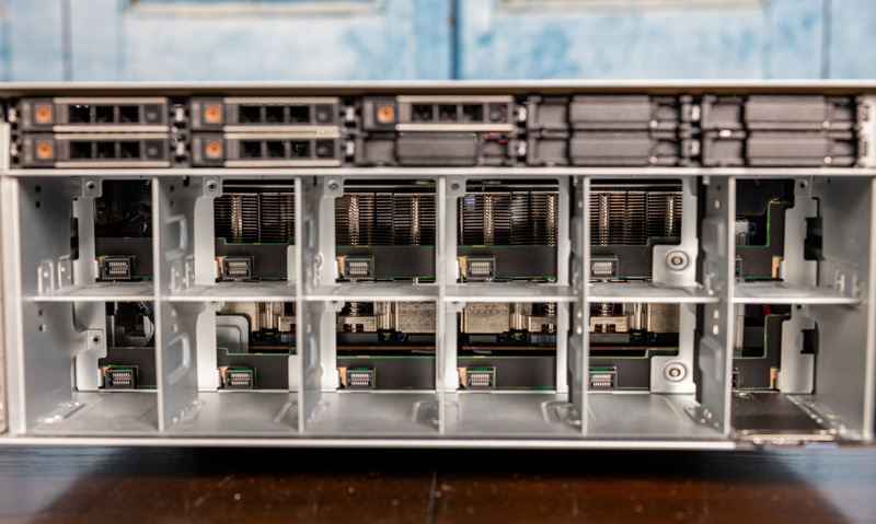 Dell EMC PowerEdge XE8545 Front No Fans