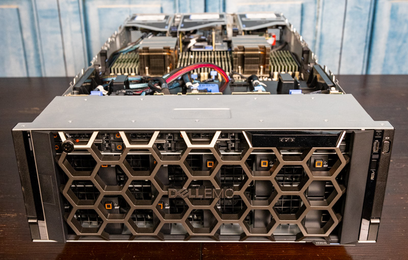 Dell EMC PowerEdge XE8545 Front With Fans And Bezel