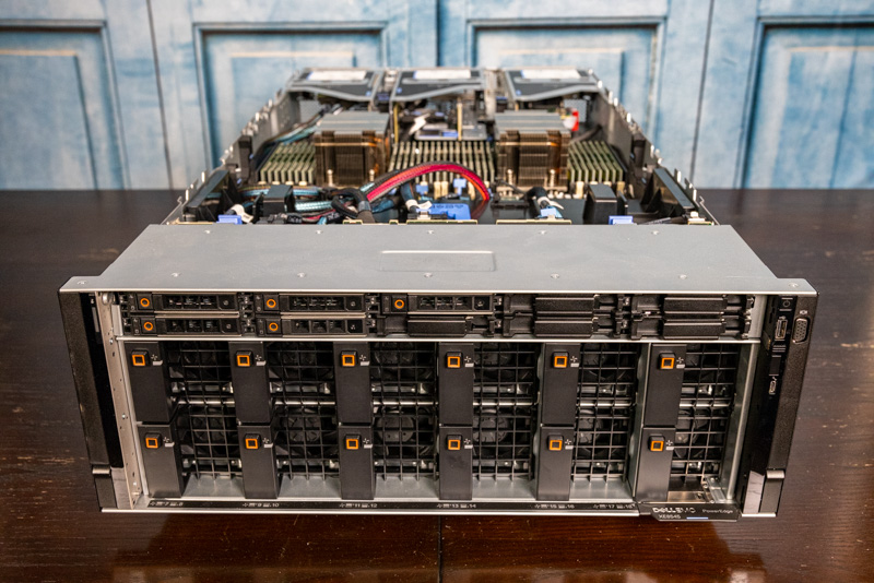 Dell EMC PowerEdge XE8545 Front With Fans