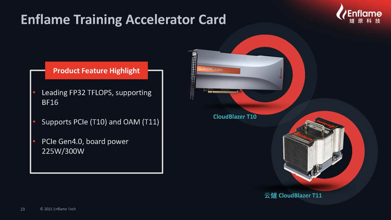HC33 2021 Enflame AI Compute Chip Enflame Training Accelerator Card CloudBlazer T10 And T11