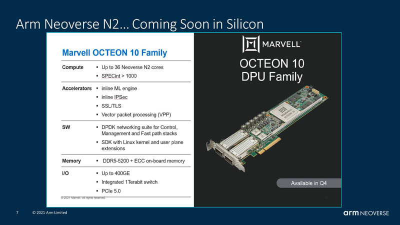 HC33 Arm Neoverse N2 Marvell Octeon 10