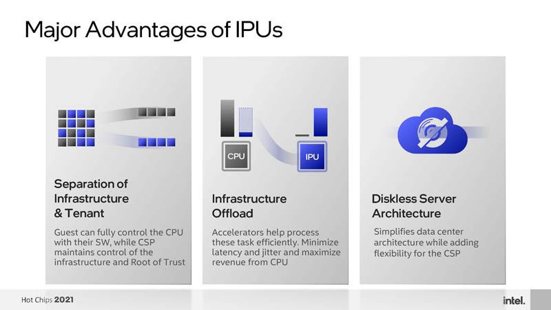 HC33 Intel Mount Evans DPU IPU Major Advantages