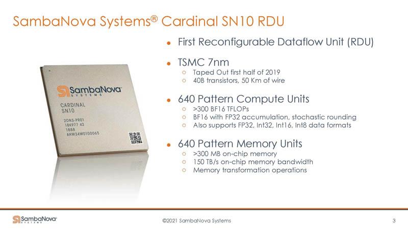 HC33 SambaNova SN10 RDU Cardinal Overview
