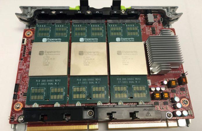 HC33 Six Esperanto ET SoC 1 Chips Deployed In Yosemite V2 On Glacier Point V2