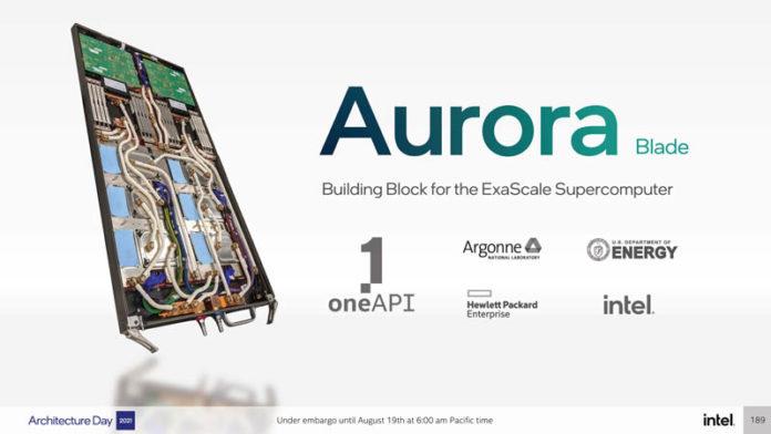 Intel Architecture Day 2021 Xe HPC Ponte Vecchio Aurora Blade