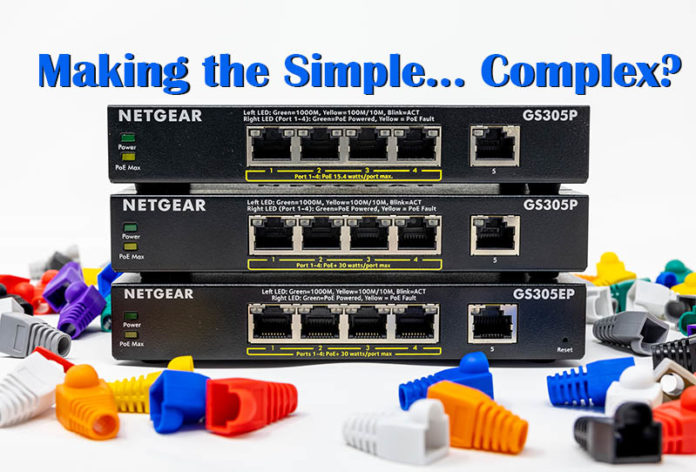 Netgear GS305P Complex Web Cover
