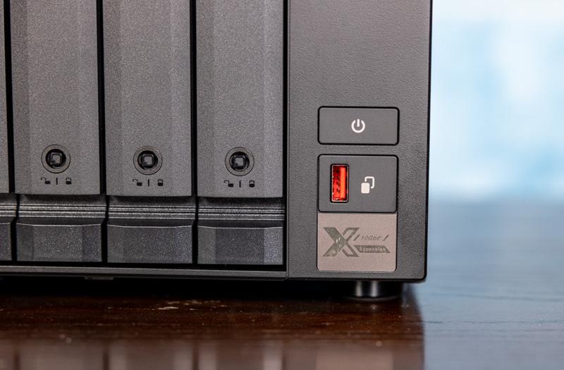 QNAP TS 873A Front USB Power Badge