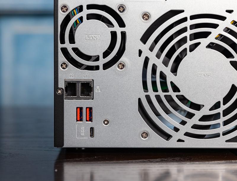 QNAP TS 873A Rear 2.5GbE Ports And USB Ports