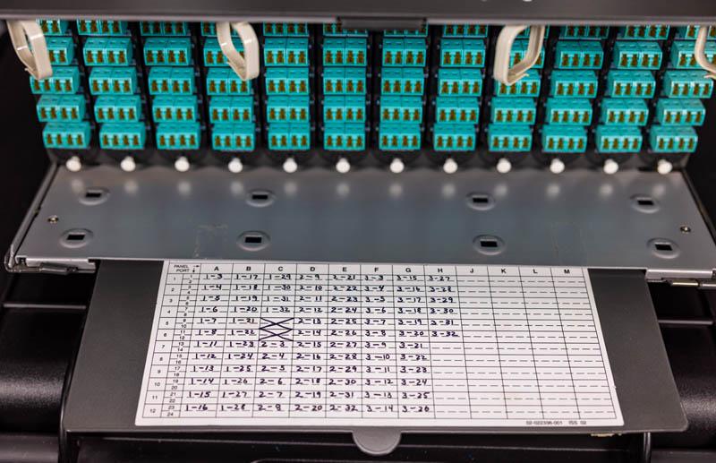 Fiber Optic Cassettes Corning CCH 04U Front Label