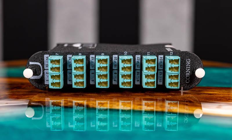 Fiber Optic Cassettes Corning CCH 24 Port Cassette Front