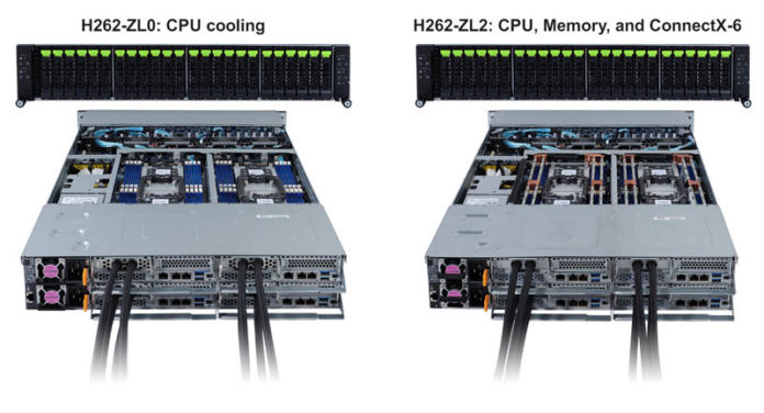 Gigabyte H262 ZL0 CPU Cooling And H262 ZL2 CPU Memory And NIC Cooling
