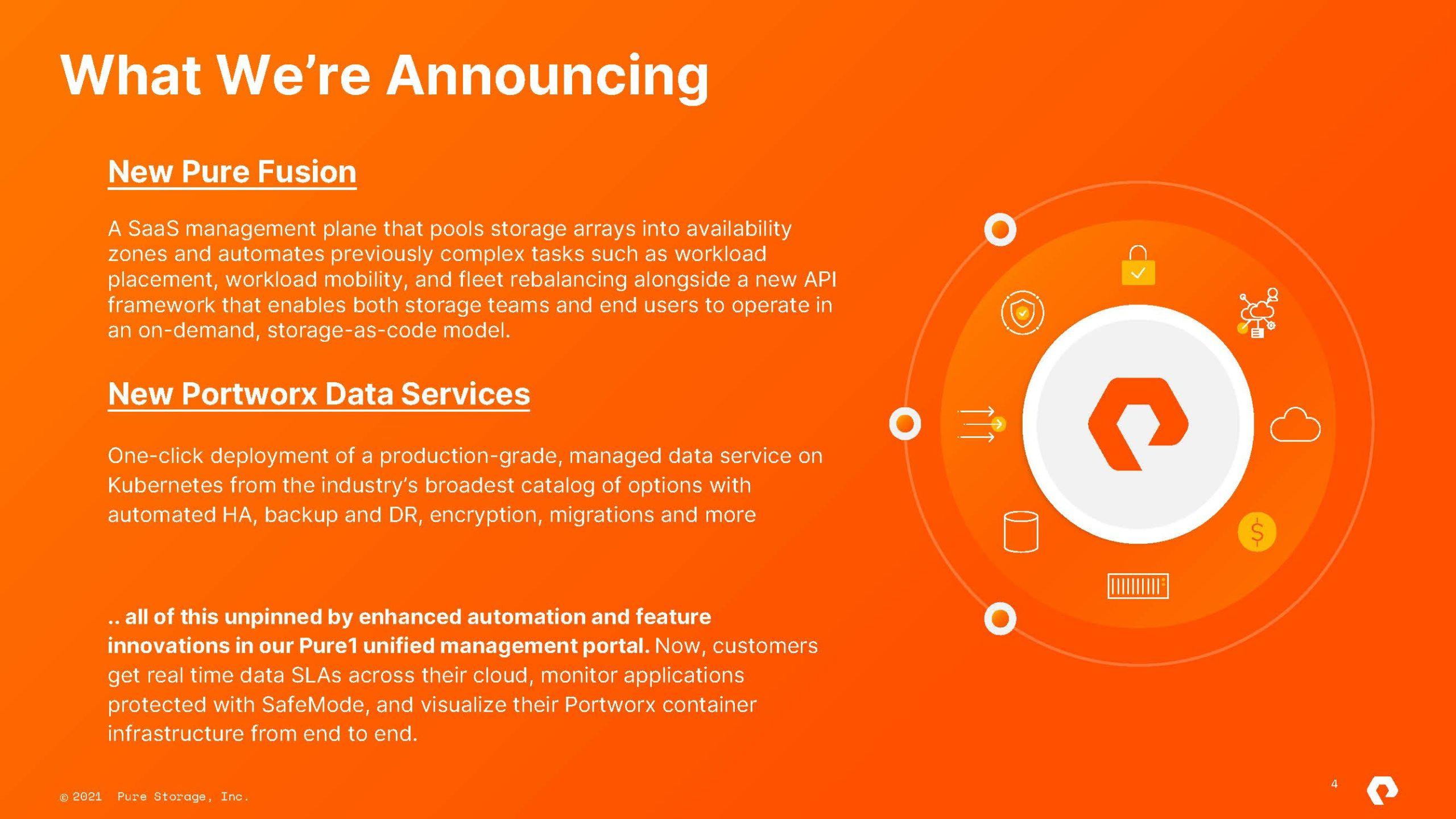 Pure Storage 2021 09 28 Announcements