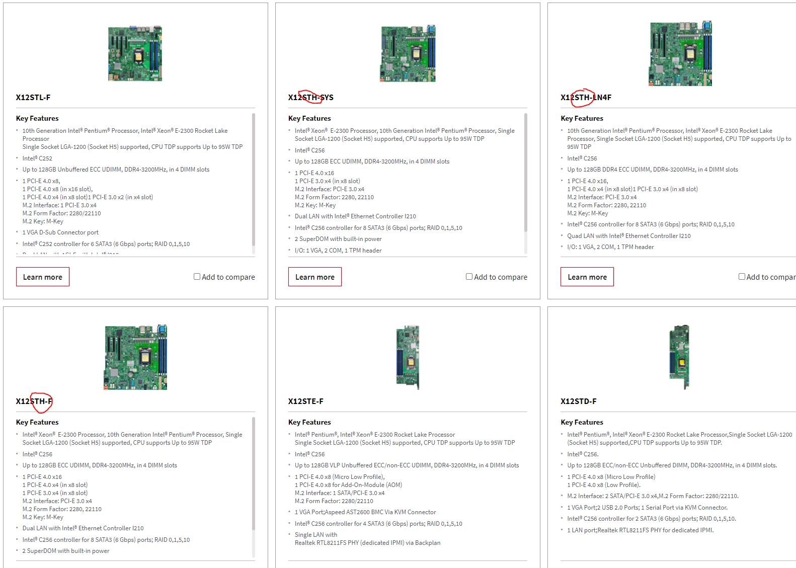 Supermicro X12STH Editions