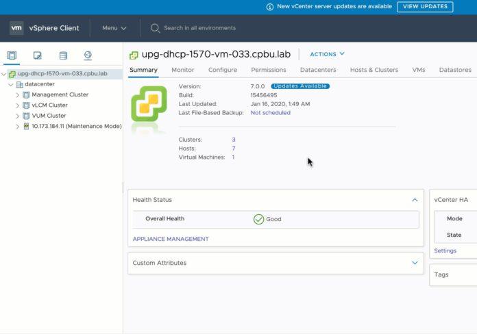 VMware CEIP Screenshot