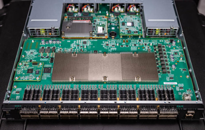 Dell EMC Networking S5232F ON Internal View Overhead