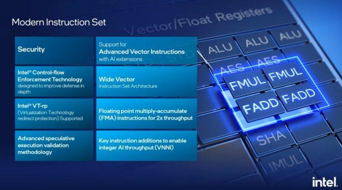Intel Architecture Day 2021 Gracemont Instruction Set
