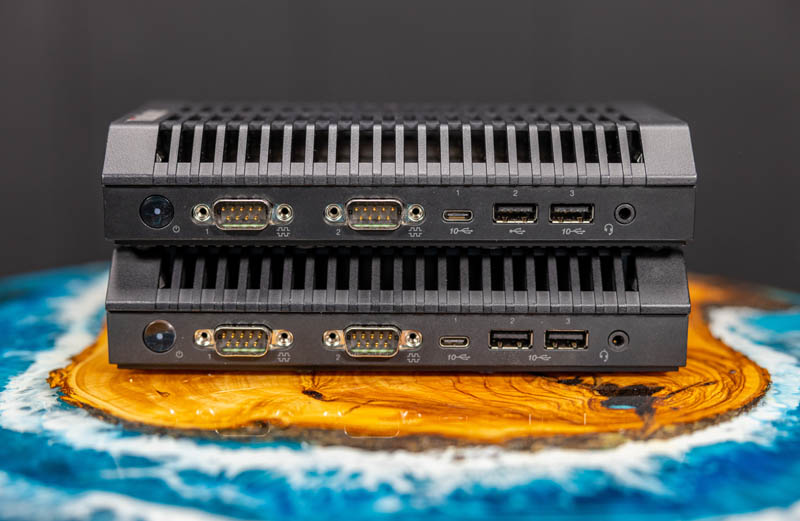 Lenovo ThinkCentre M75n IoT Atop The M90n IoT Front