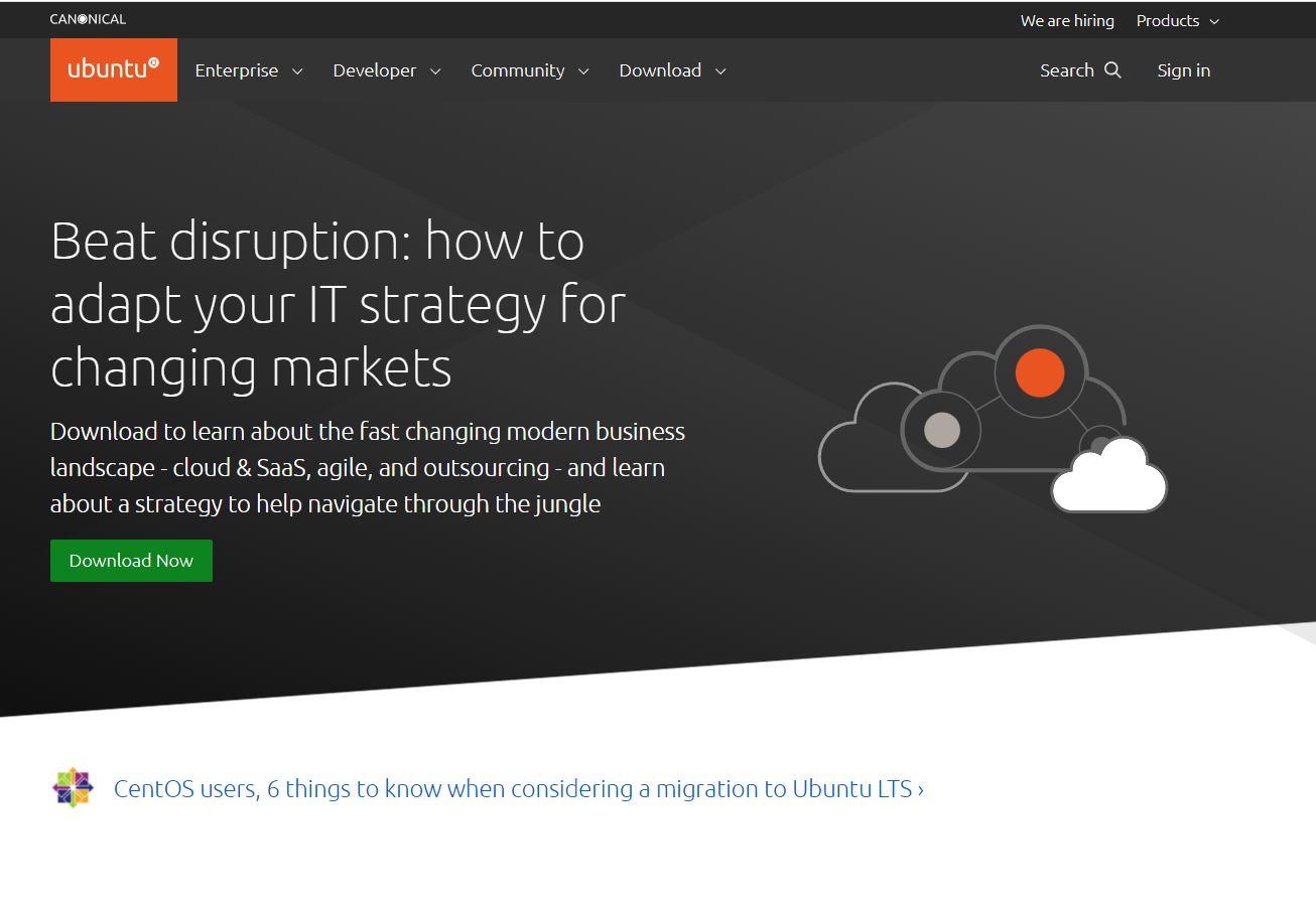 Ubuntu 21.10 CentOS Migration