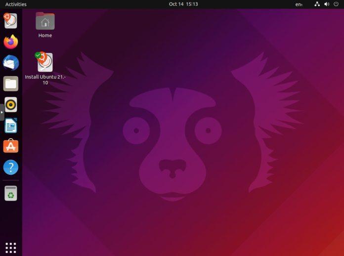 Ubuntu 21.10 Desktop Screenshot