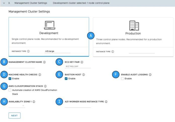 VMware Tanzu Community Edition Management Cluster AWS